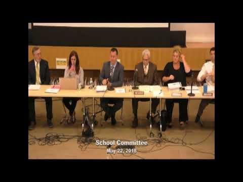 Regular School Committee Meeting May 22, 2018