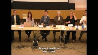 Regular School Committee Meeting May 22, 2018