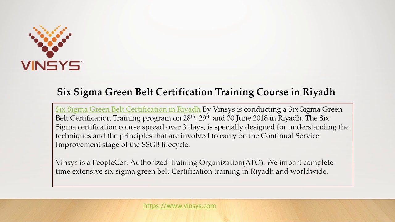 Six Sigma Green Belt Certification 35 Ramadan Special Discount
