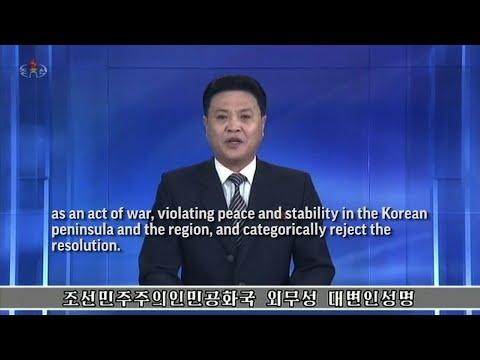 "Pyongyang Called ""An Act of War"" U.N. Sanctions"