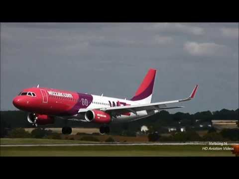 Wizz Air Hungary Airbus A320-200 Sharklets Arrival/Departure at London Luton Airport [1080p HD]