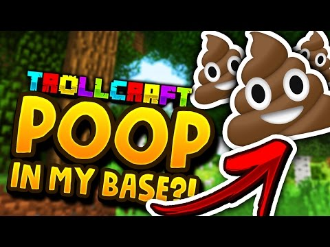 Minecraft: 😱SOMEONE FILLED MY BASE WITH POOP😱 - Troll Craft