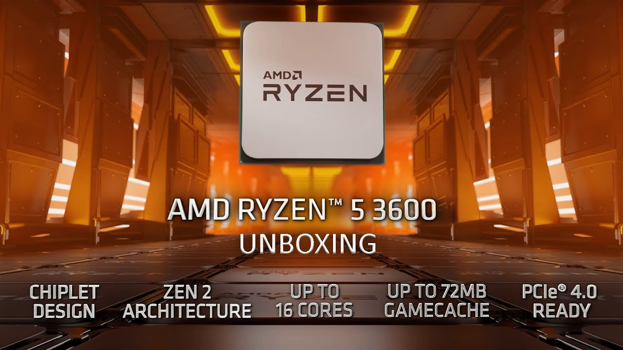 Ryzen 5 3600 Unboxing - a bang for the buck CPU for editing and gaming