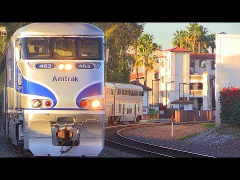 Amtrak & Metrolink Action In Santa Ana, CA December 20th, 2013