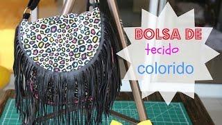 Bolsa de tecido colorido