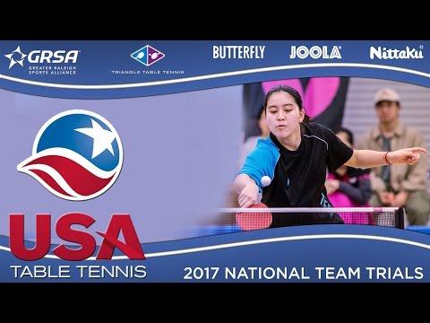 2017 US National Team Trials Day 2 - Yue Wu vs. Crystal Wang (SF) Highlights