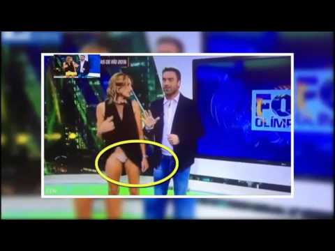 Oops News presenter accidentally flashes in live TV wardrobe malfunction