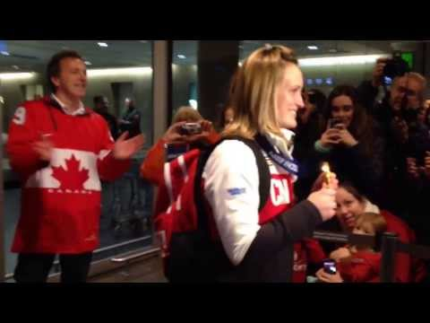 Welcoming Marie-Philip Poulin home from Sochi