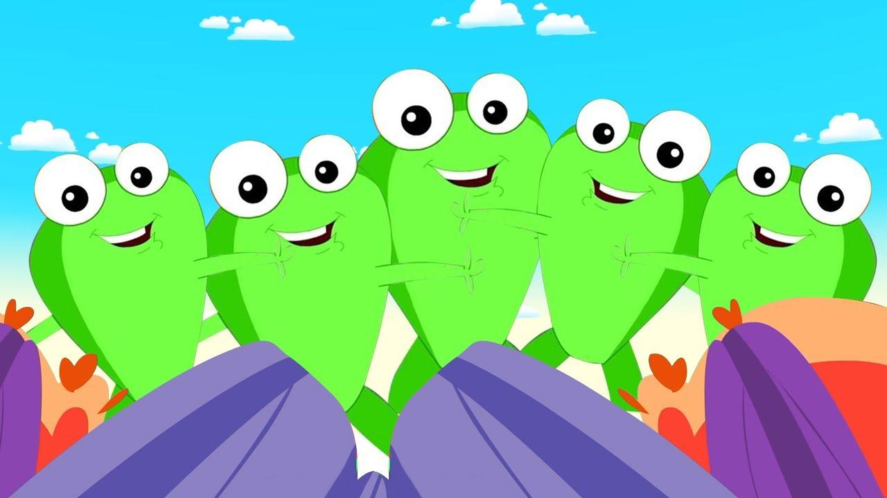 Cinco sapinhos | Musica para bebes | Desenhos animado | Canção infantil | Educação
