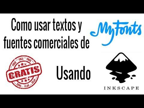 Como usar textos y fuentes comerciales de myfonts.com gratis
