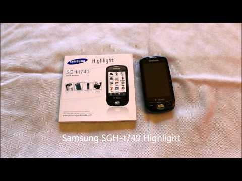 Samsung Highlight SGH-t749.wmv