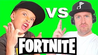 Kids vs Dad Playing FORTNITE for the First Time!