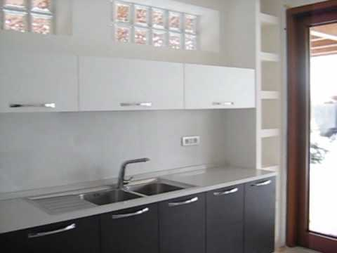 Modern corner kitchen with Okite top - YouTube