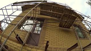 Фасадная плитка ФАГОТ в облицовке дома +цветная затирка HAGA-ST (видео обзор)