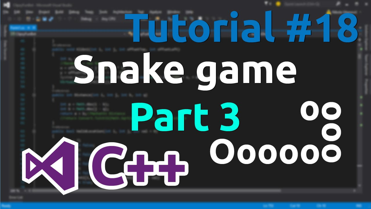 C++ Tutorial 18 – Simple Snake Game (Part 3)