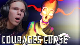 MURIEL... WHATS WRONG?? | Courages Curse (Courage the Cowardly Dog Horror Game) Complete Ending