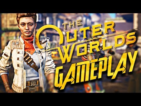 The Outer Worlds - 1 Hour NEW Gameplay + Dialogue and Quest Info