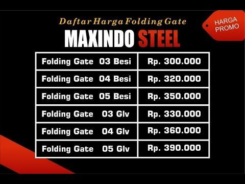 FOLDING GATE MURAH JAKARTA TIMUR 0822 1182 8759 - YouTube