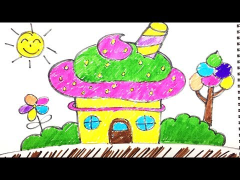 How To Draw A Ice Cream House Cute For Kids 01 Doraemon Super Coloring Pages For Kids Youtube