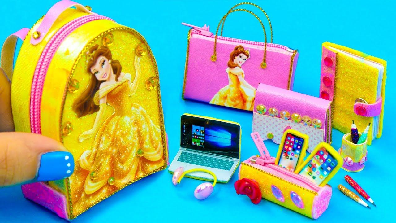 7c14149fc6e9 DIY Miniature Belle School Supplies ~ Backpack