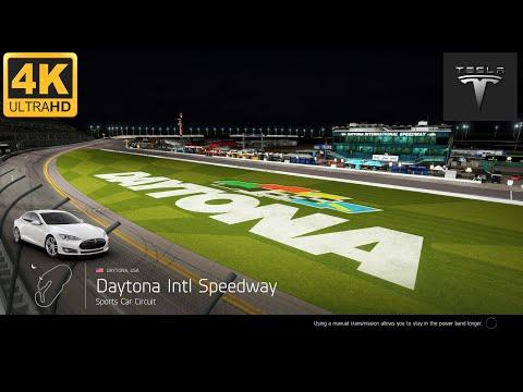 [4K] Tesla Model S Daytona Sports Car Circuit