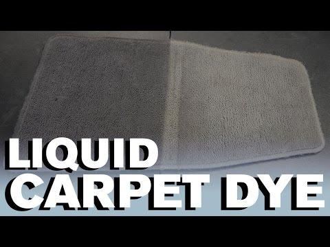 How To Dye Your Carpet - Liquid Dye