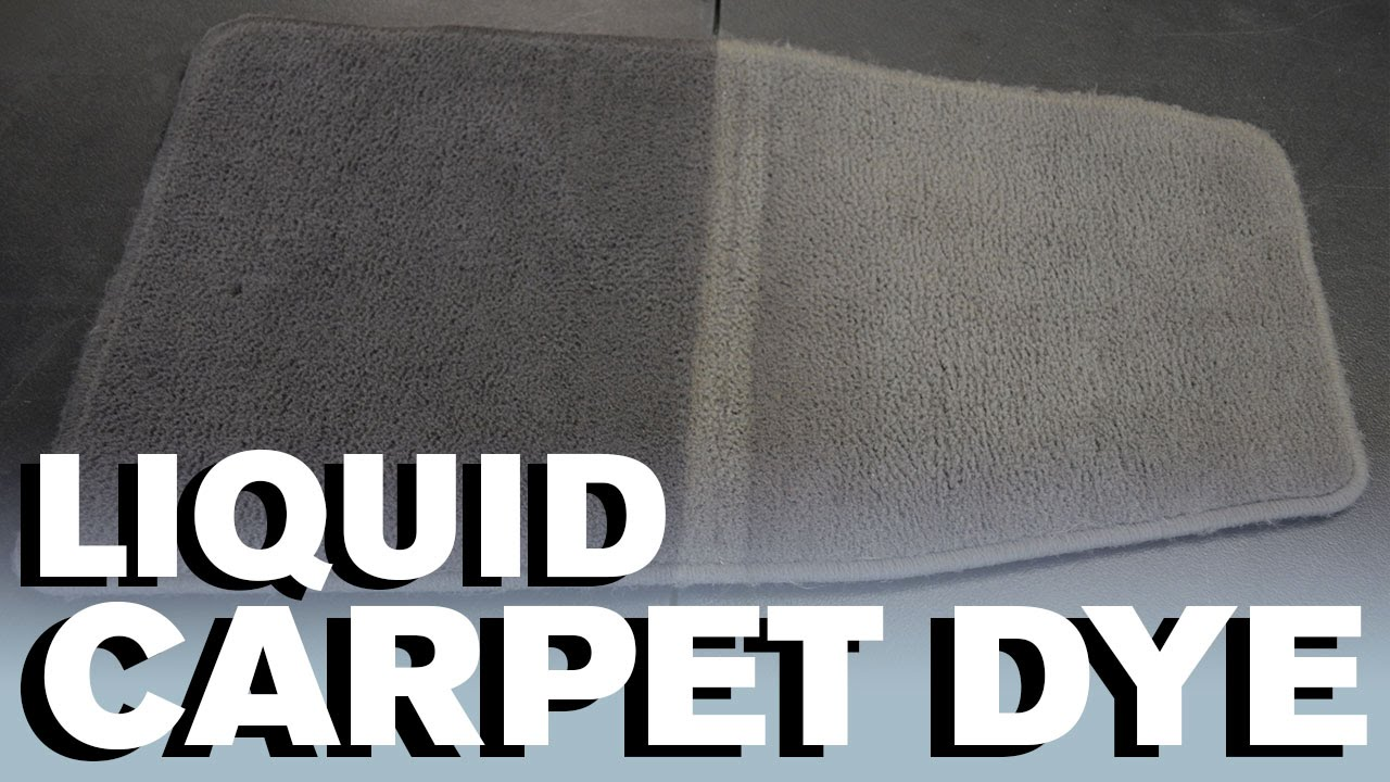 How to Dye Your Carpet   Liquid Dye   YouTube