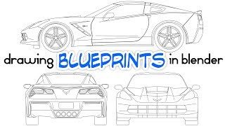 Drawing Car Blueprints Using Blender
