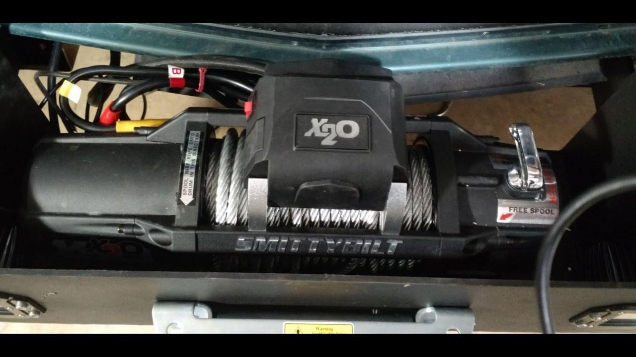 truck update winch install smittybilt x20 gen 2 12k 97512 unboxing [ 1280 x 720 Pixel ]