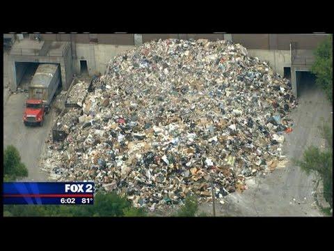Trash System Overloaded In Flood Aftermath