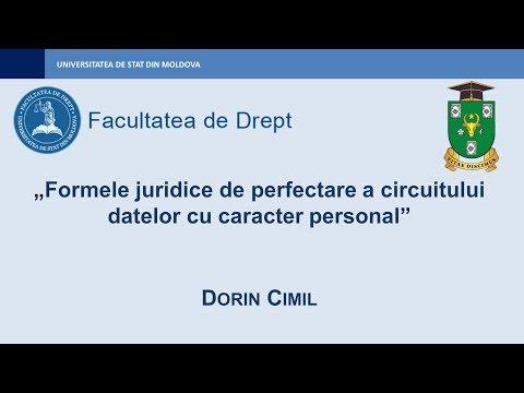 Dorin Cimil — Formele juridice de perfectare a circuitului datelor cu caracter personal