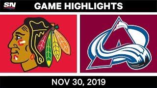 NHL Highlights   Blackhawks vs. Avalanche - Nov. 30, 2019
