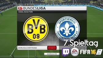 BORUSSIA DORTMUND : DARMSTADT 98 - 7.Spieltag | LIVESTREAM FIFA 16 Prognosen