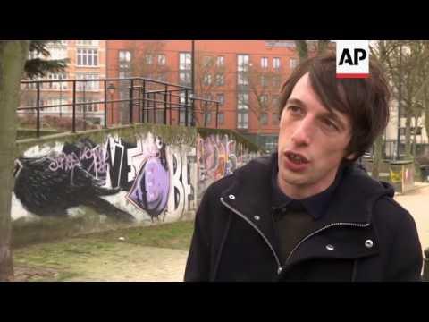 Controversial street art in Belgian capital