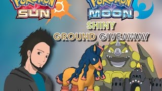 Pokemon Sun & Moon Shiny Ground type Box Giveaway GTS - Shiny Mudsdale/Palossand/Rypherior