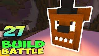 ч.27 Minecraft Build Battle - Золотой Фредди и Джокер