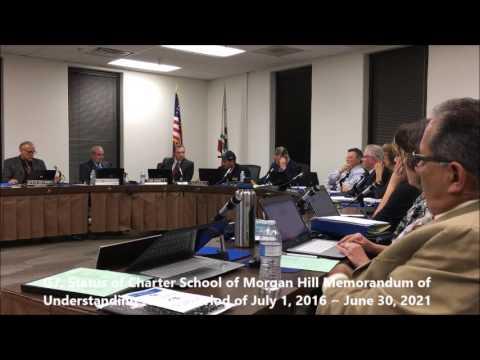 Sep 6, 2016 Status of Charter School of Morgan Hill