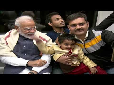 PM Narendra Modi takes Delhi Metro ride to ISKCON temple
