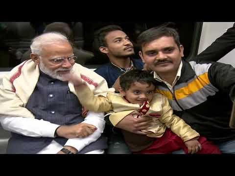 PM Narendra Modi takes Delhi Metro ride to ISKCON temple