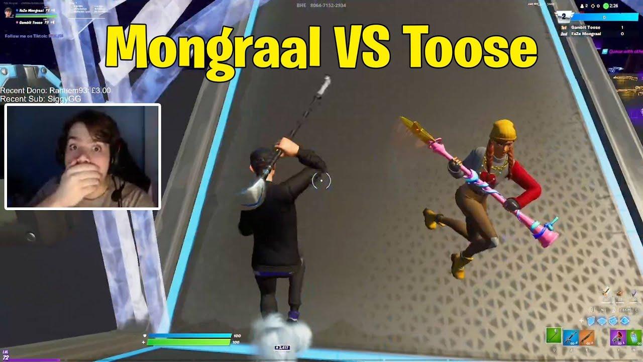 Mongraal vs Gambit Toose 1V1 Buildfights! - Fortnite 1v1