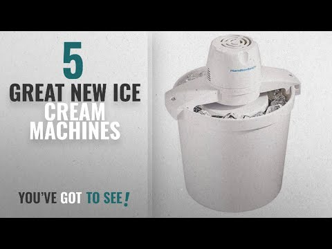 Top 10 Hamilton Beach Ice Cream Machines [2018]: Hamilton Beach 68330N 4-Quart Automatic Ice-Cream