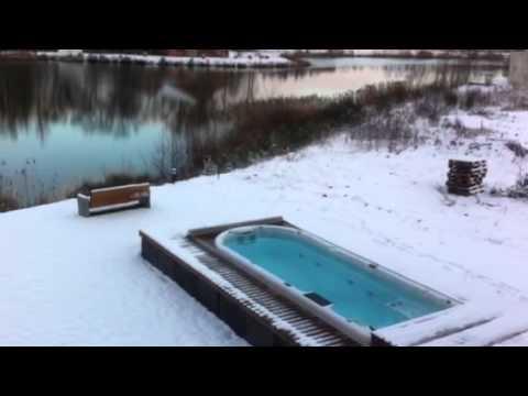 Schwimmen im Winter - beheizter Pool