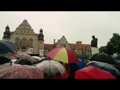 Female protest in Poland. Poznan.