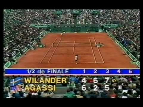 Mats Wilander And Andre Agassi 1 Of 2 Youtube