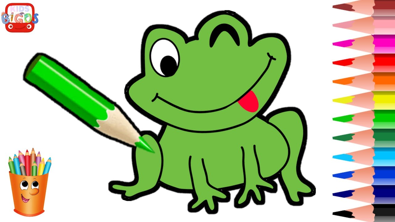 Drawing Green Frog, Music Kids, Animation Kids, Education ...