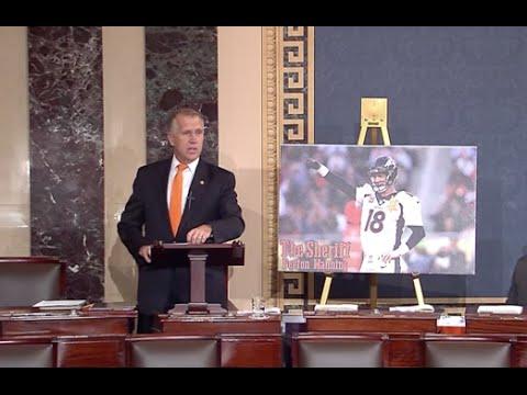 Tillis Congratulates the Broncos on Super Bowl 50 Win in Senate Floor Speech