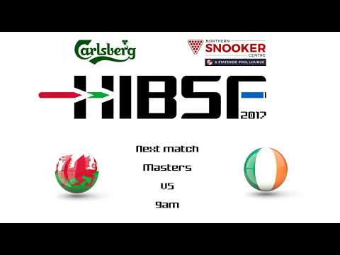 HIBSF Live Stream - 2017 - Tim James (Wales B) v Keith Sheldreck (Republic of Ireland)