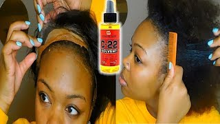 How I Remove A Lace Frontal Wig ft C22 Solvent