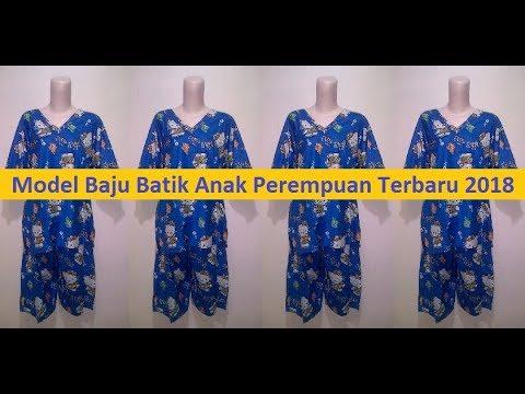 Model Baju Batik Anak Perempuan Terbaru 2018