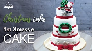 Christmas cake | fancy christmas cakes | santa cake | christmas cake decorations